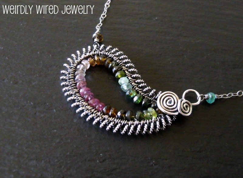 Rainbow Paisley Necklace-Marcia