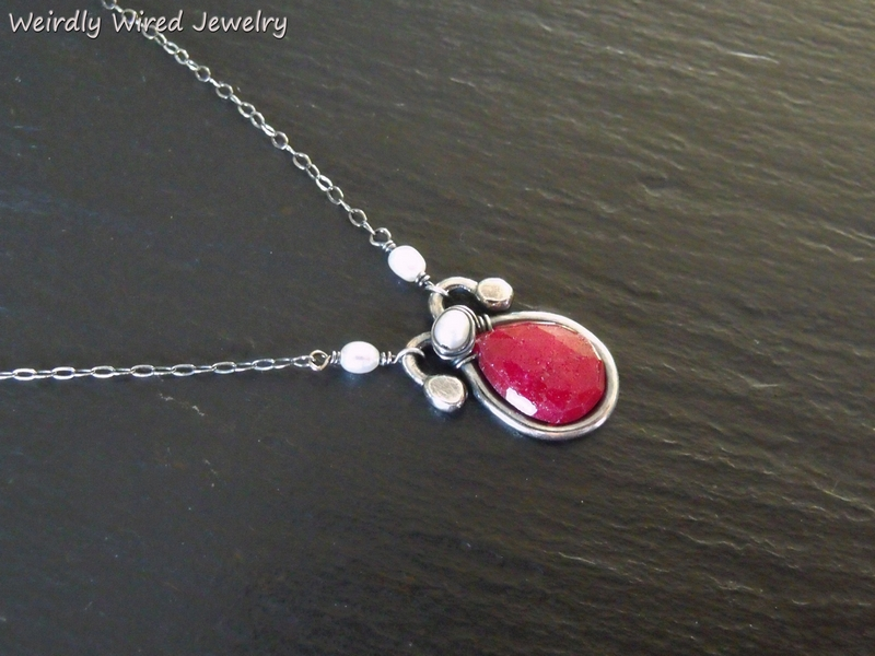 Ruby and FWP Sterling Necklace