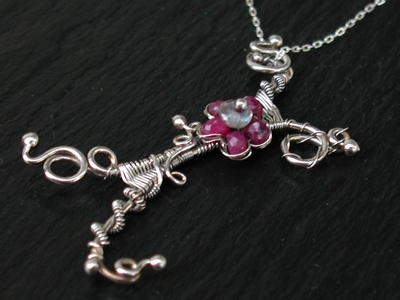 Ruby Trellis Necklace