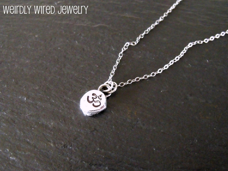 Recycled Sterling Om Necklace