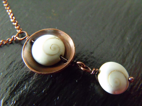 Shiva Shell Copper Necklace