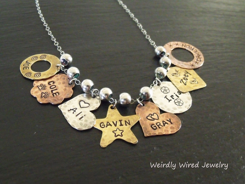 NP_Grandmother's Necklace with Stamped Charms