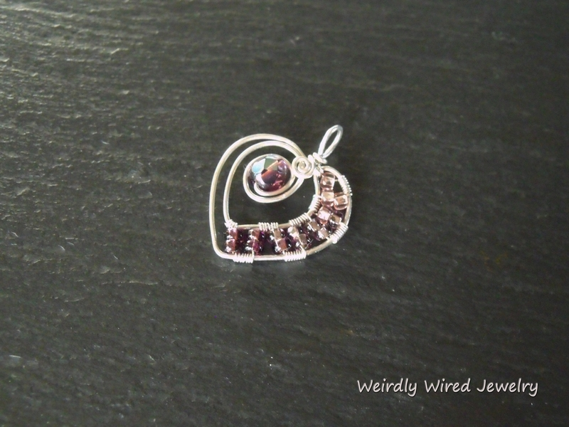 Pink and Purple Sterling Heart