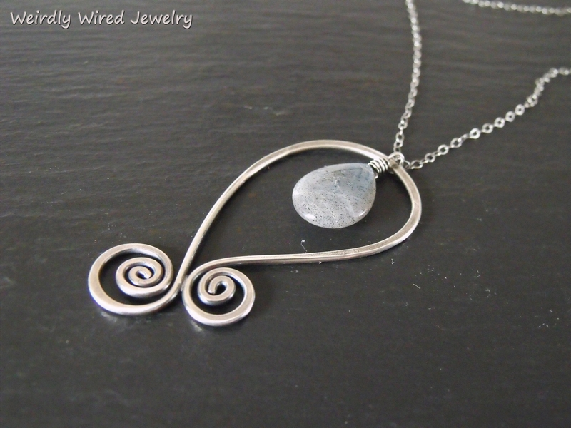 Sterling Paisley with Labradorite Necklace