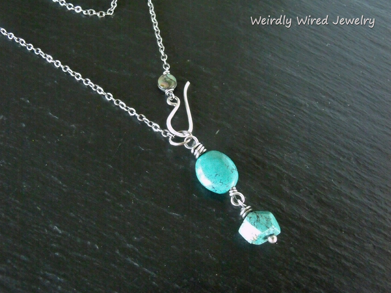 Sterling Turquoise Drops Necklace