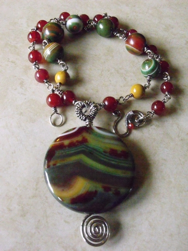 Striped Agate Necklace