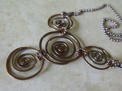 Super Spiral Copper Necklace