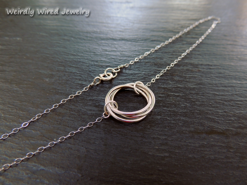 Three Ring Sterling Necklace