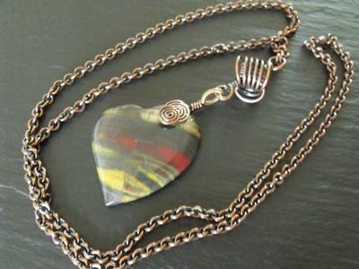 Tiger Iron Heart Necklace