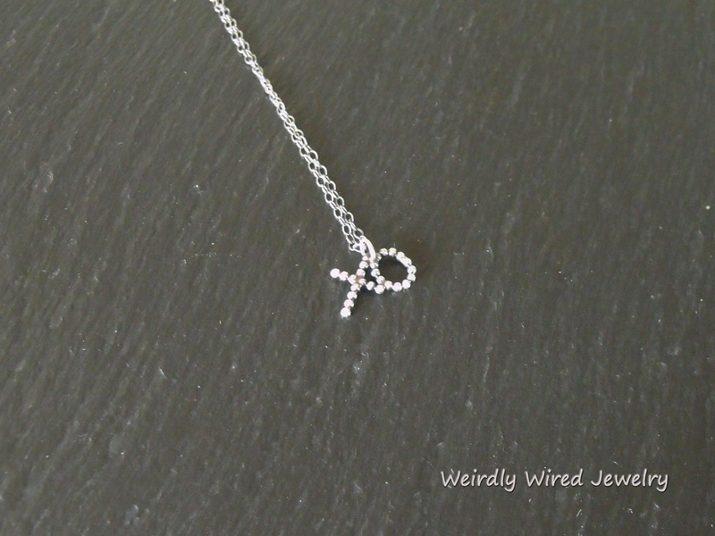 Tiny Sterling XO Necklace