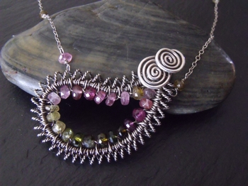 Tourmaline Paisley Necklace