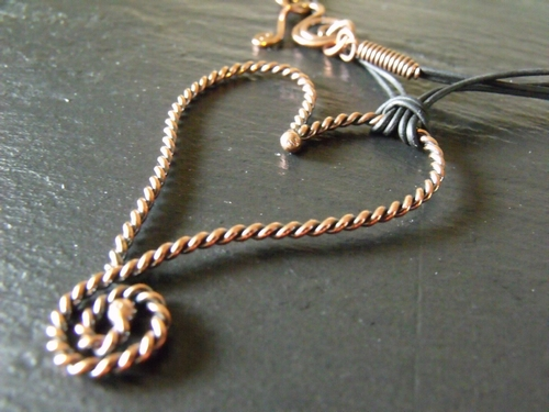 Twisted Copper Heart