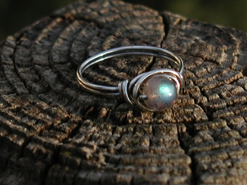 Little Labradorite Ring