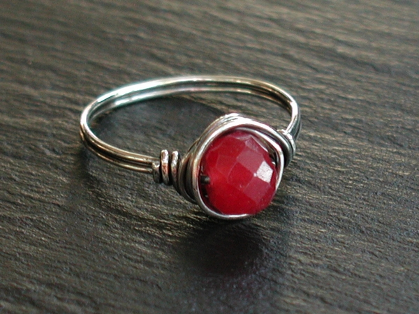Ruby Jade Ring