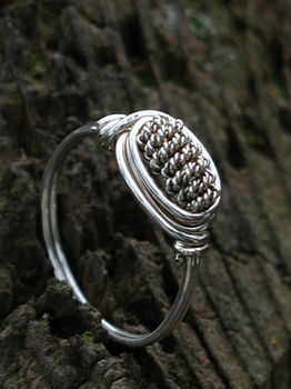 Twisted Wire Silver Ring
