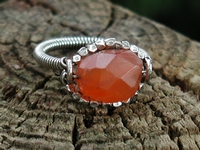 Carnelian and Hill Tribe Ring