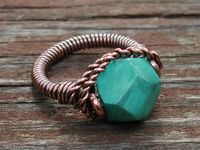 Copper and Turquoise Ring