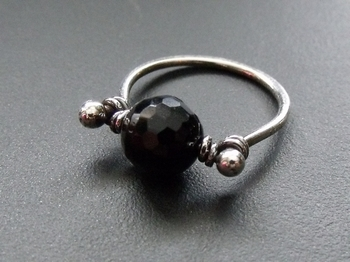 Black Onyx and Silver Ring