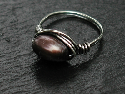 Bronze Pearl Ring