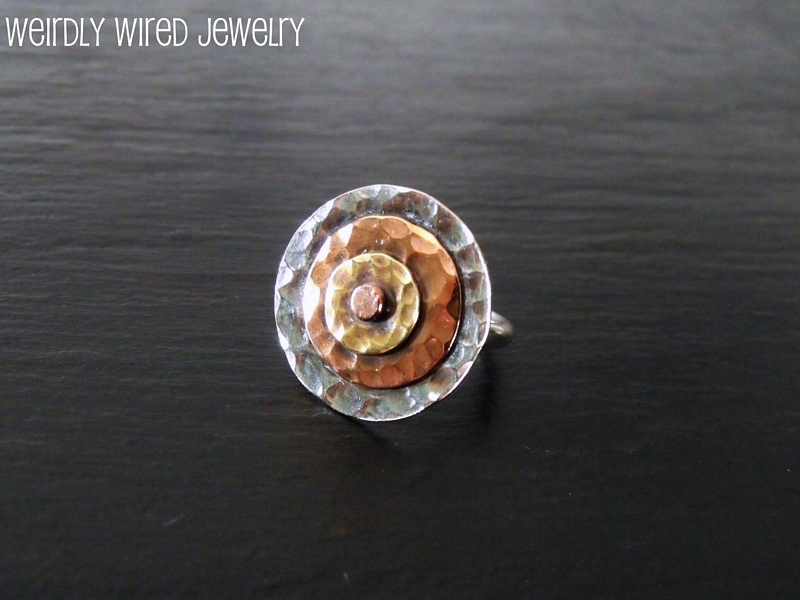 Bullseye Riveted Ring