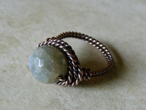 Copper and Labradorite w/Twisted Shank