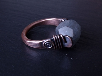 Kyanite and Copper Ring
