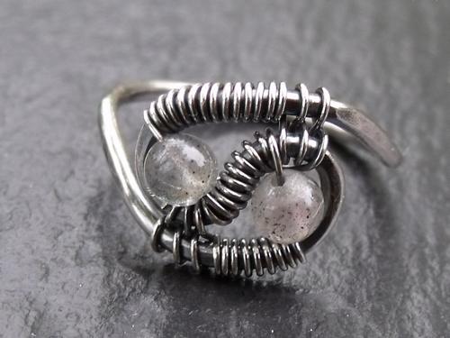 Labradorite Ying-Yang Ring