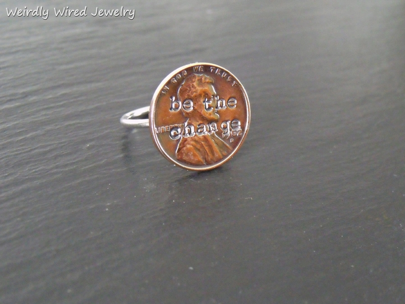 Stamped US Penny Ring