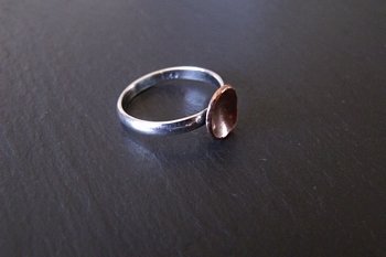 Copper Cup and Sterling Ring