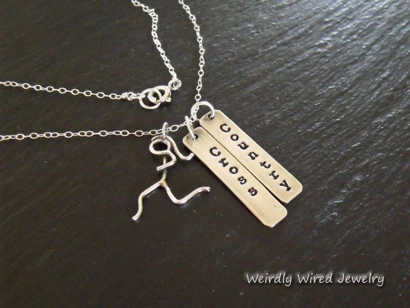 Cross Country Running Necklace