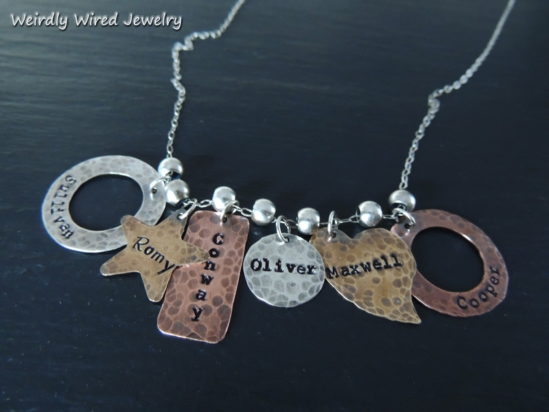 Stamped Grandmothers Necklace 6 Names