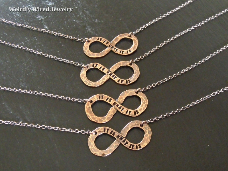 Infinity It is what it is Necklaces