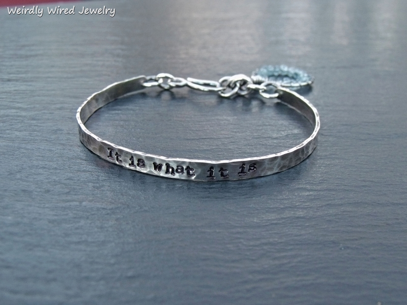 Light Weight Sterling Stamped Bracelet