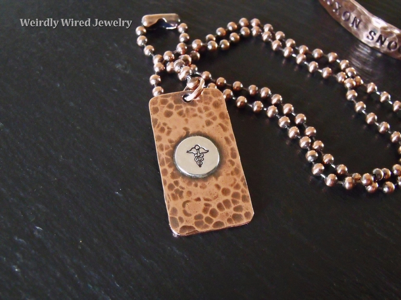 Medic Alert Dog Tag Necklace-Front