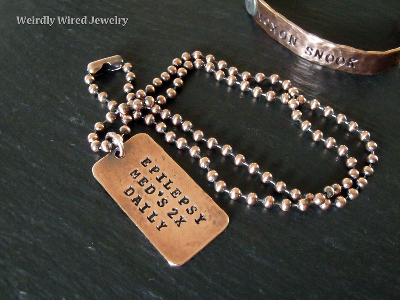 Medic Alert Dog Tag Necklace-Back