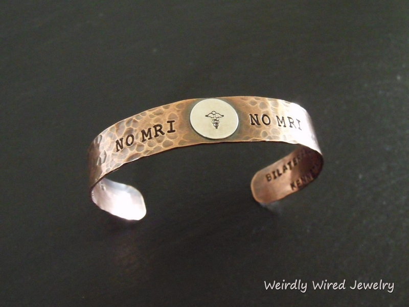 Stamped Medical ID Copper Cuff-PJ