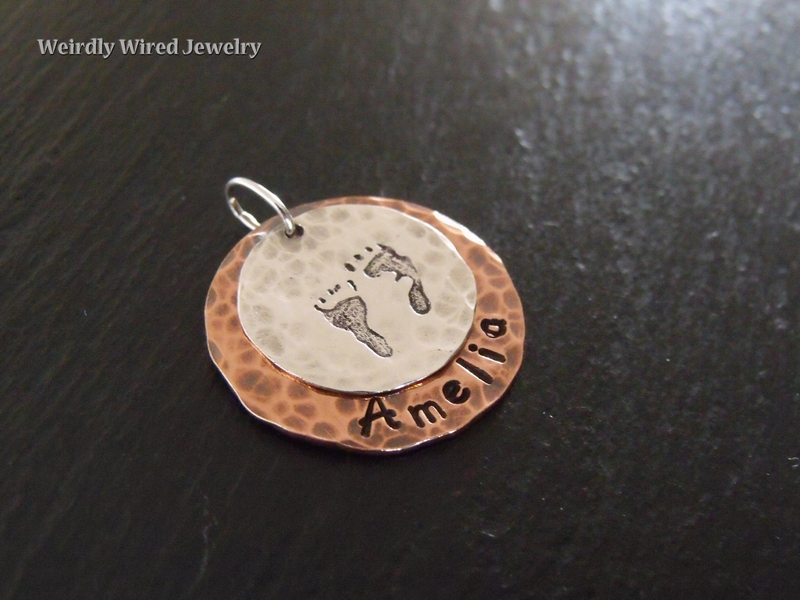 Baby Feet Stamped Mother's Necklace