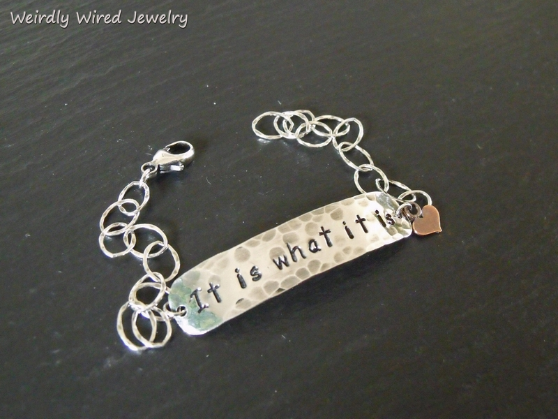 Stamped Quote Bracelet-BP