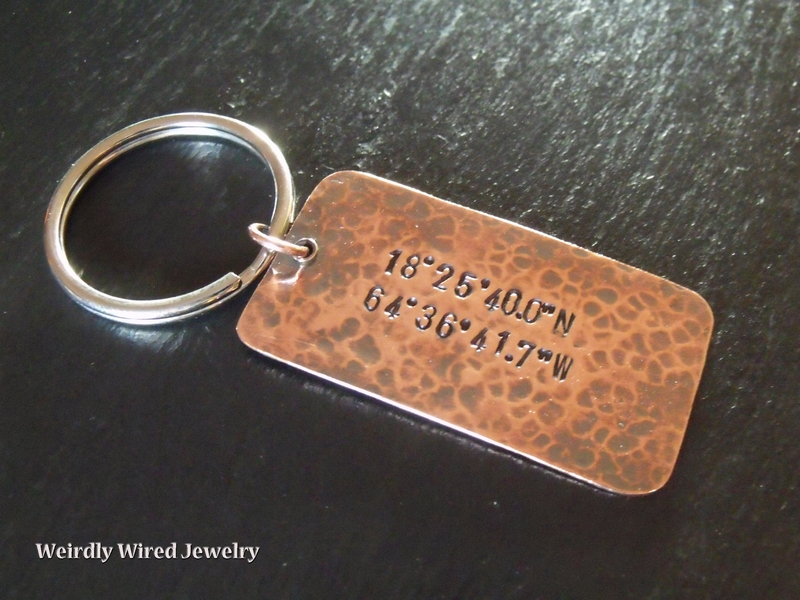 Dog Tag Key Chain with GPS