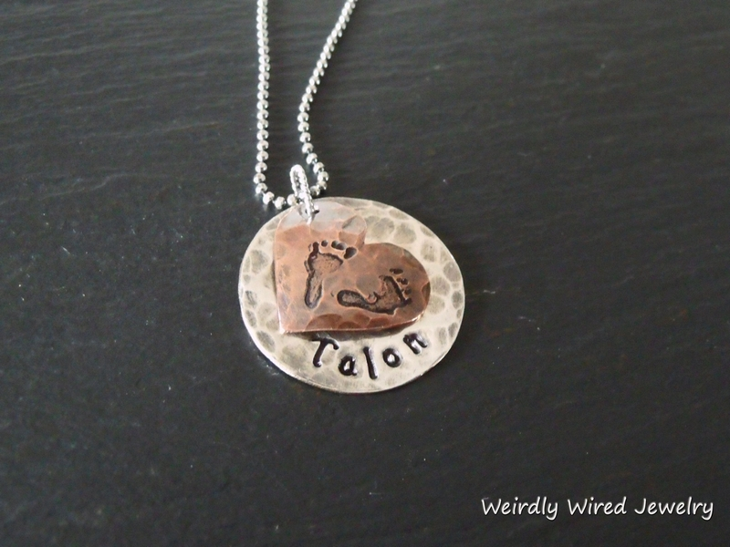 Mothers Necklace with Baby Feet