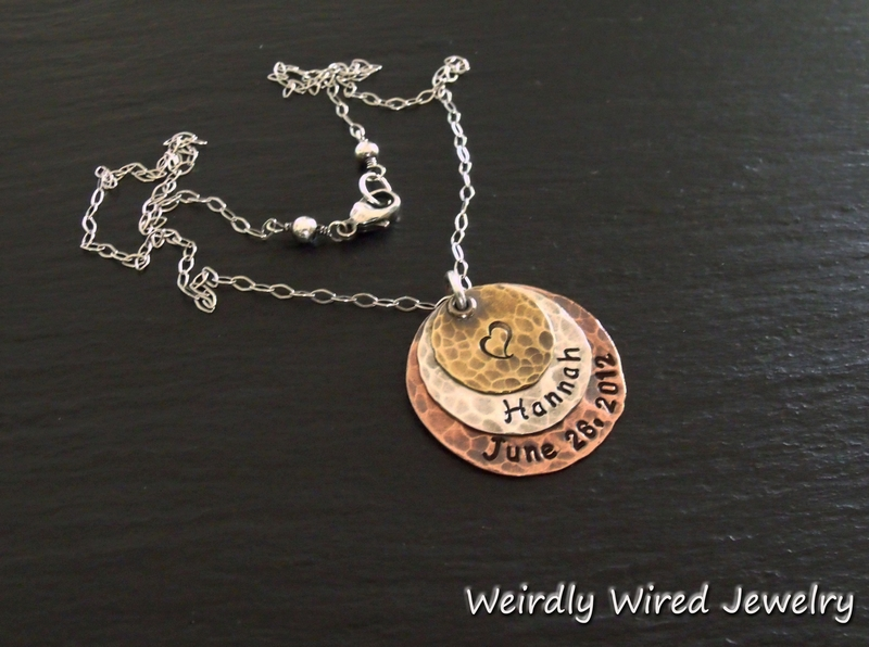 Mother's Pendant-Name and Birthdate