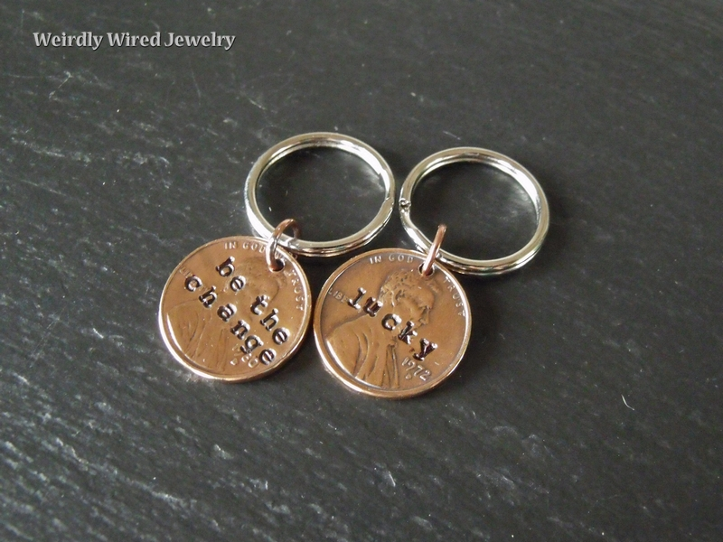 Stamped Penny Key Chains