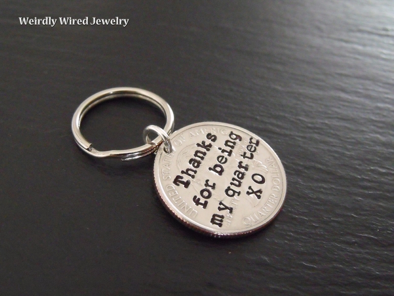 Quarter Key Chain - stamped