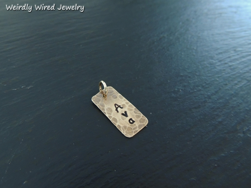 Individual Stamped Name Charm