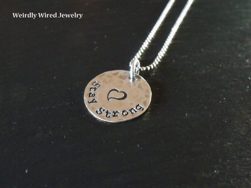 Stay Strong Stamped Necklace