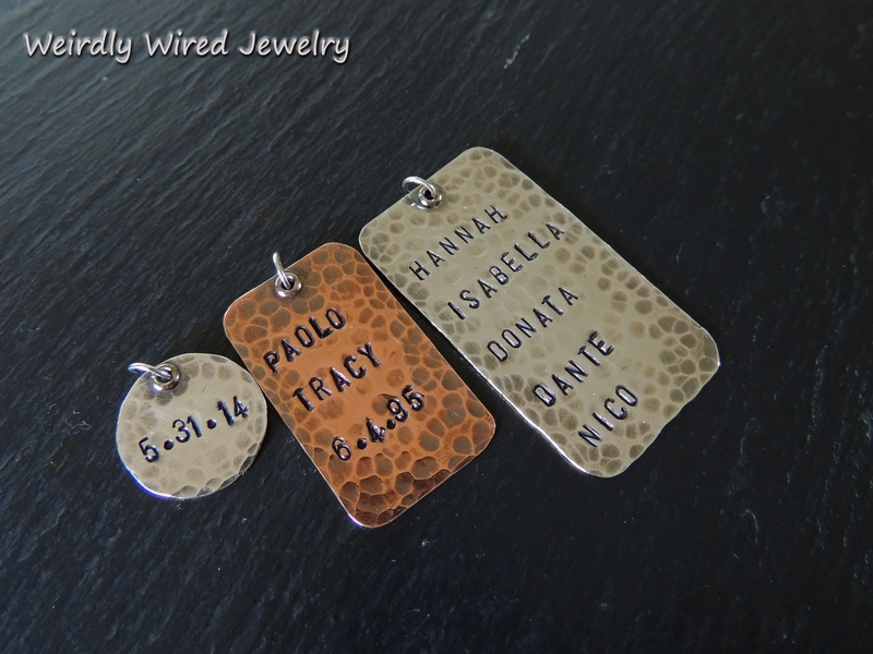 Stamped Dog Tags-Mixed Metals
