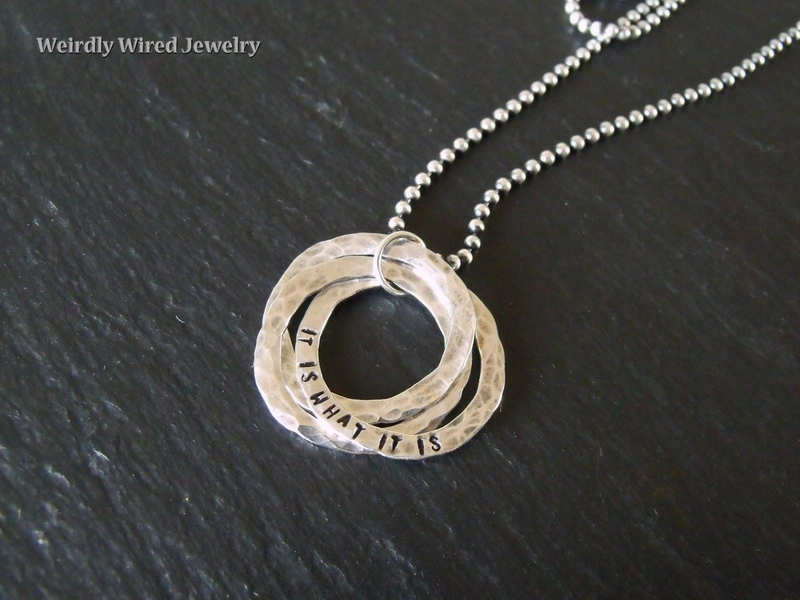 Sterling Trinity Stamped Pendant