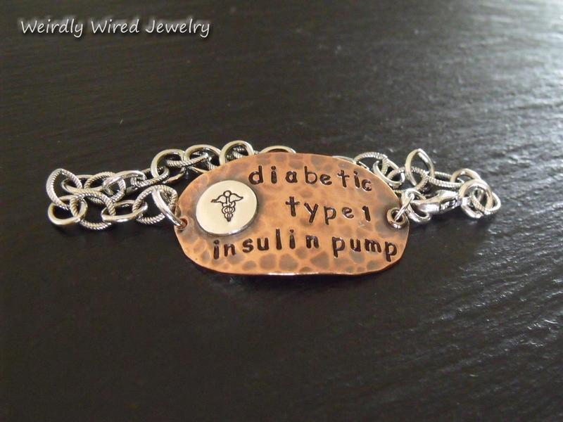 Type 1 Diabetic Medic Alert Bracelet