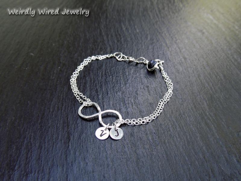 Women's Infinity Bracelet with Sapphire